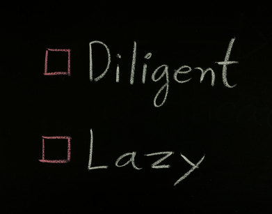 select diligent or lazy